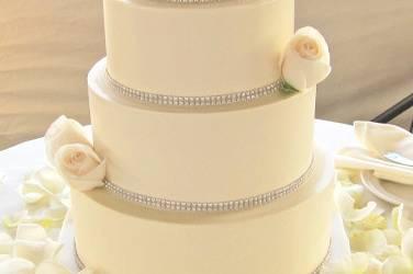 Four tier white cake