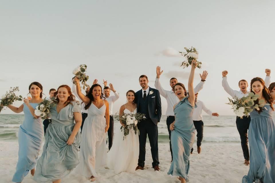 Wedding party fun - Sarah & Paul Photography