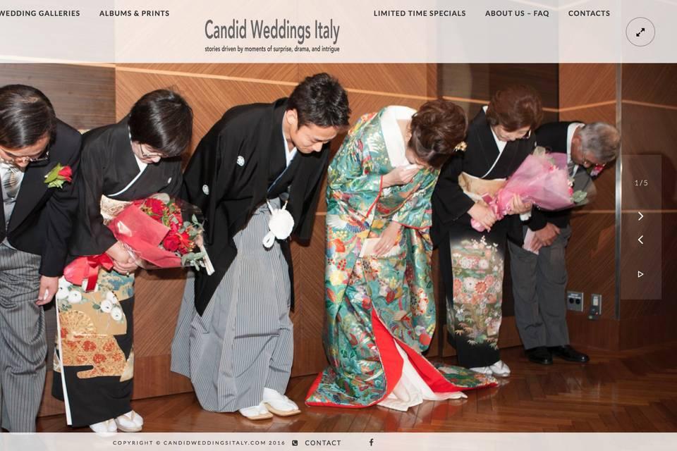Candid Weddings Italy