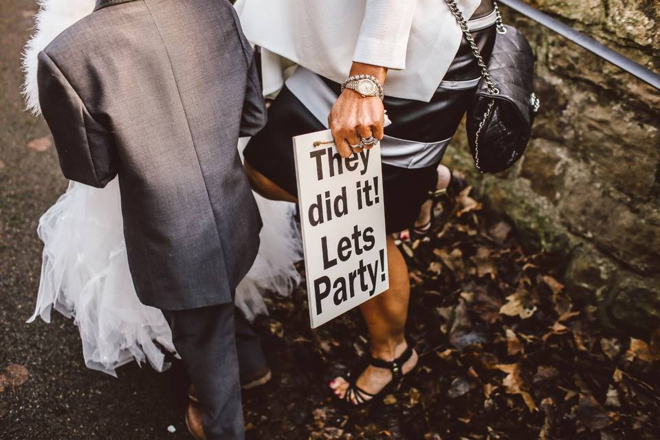 Let's Party signage