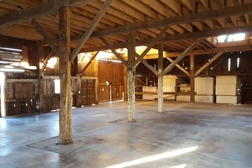 First floor barn event space