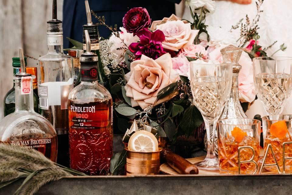 Bar Cart Florals
