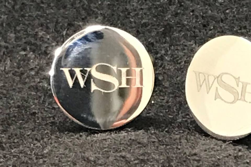 Laser engraved cufflinks