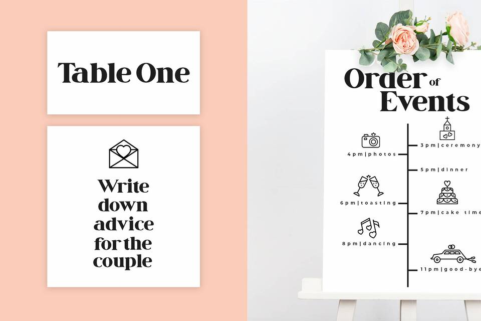 Order of Events / Table Cards