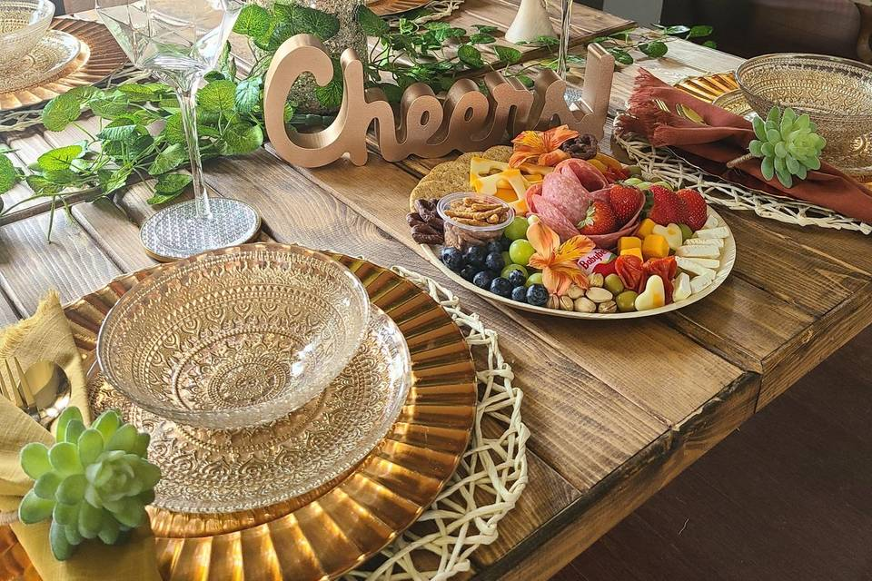 Picnic and charcuterie table