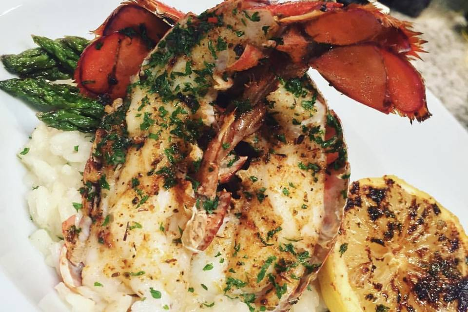 Cajun charbroiled lobster tail