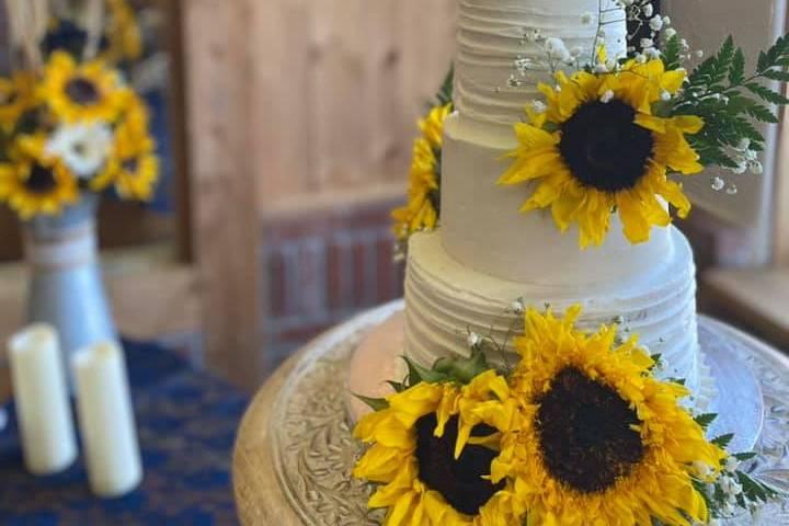 Rustic Colorado Sunflowers