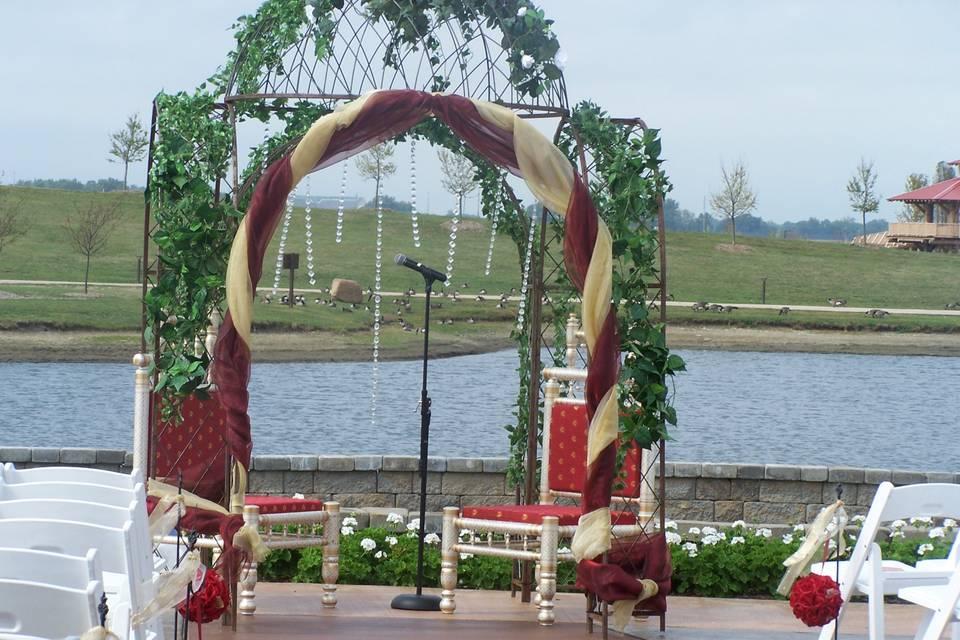 Erin's Terrace ceremony altar