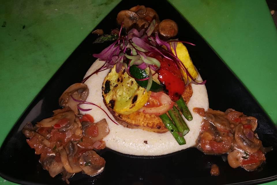 Grilled vegetable stack