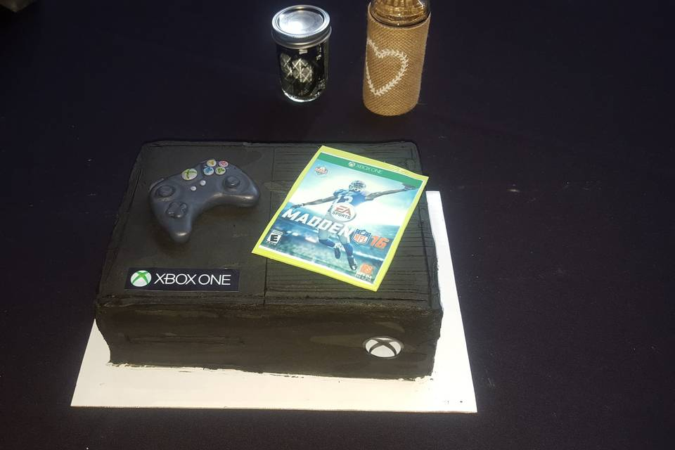 X-box themed cake