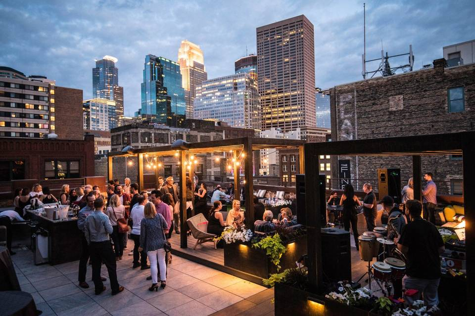 Rooftop venue and views