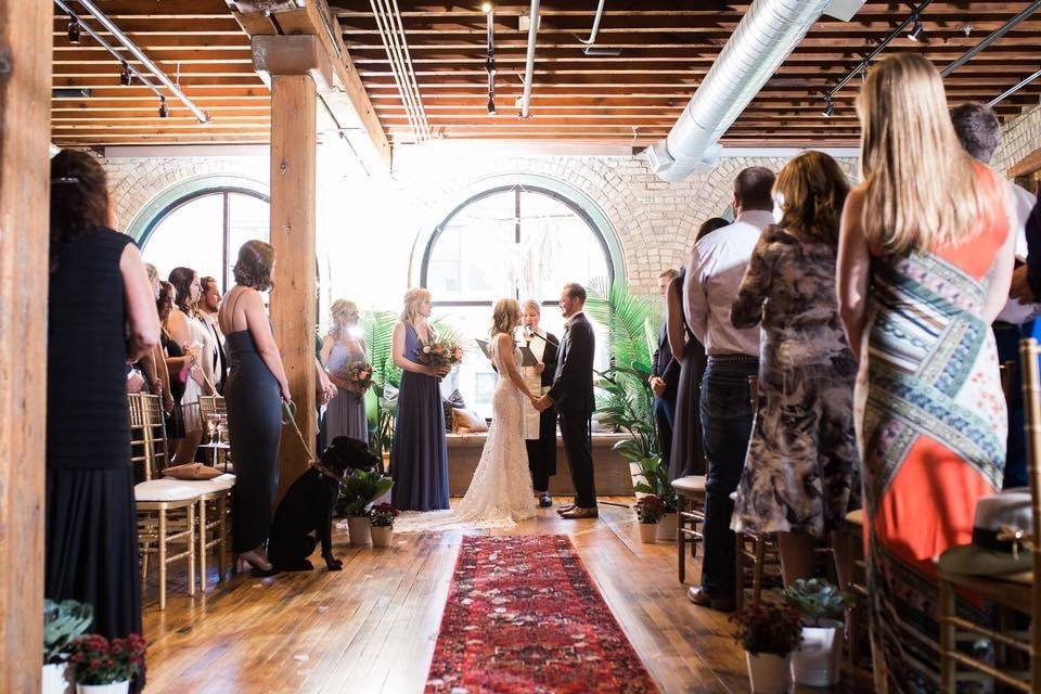 Ceremony in the lounge
