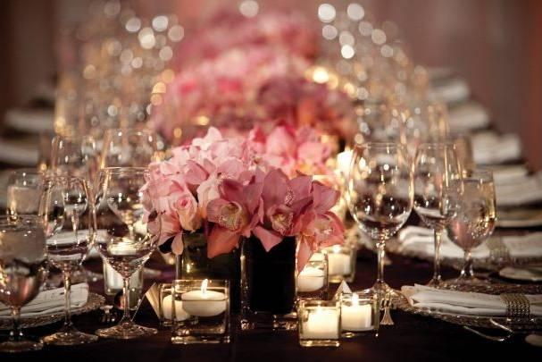 Set for an elegant reception