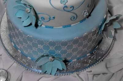 Blue themed cake