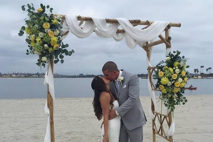 Beautiful wedding at the Catamaran!