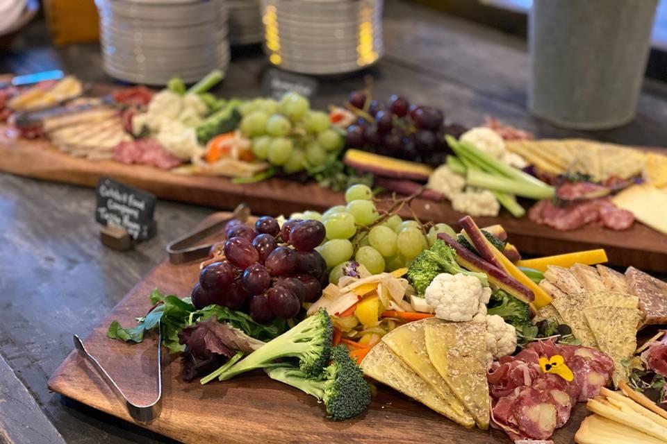 Grazing board delicacies